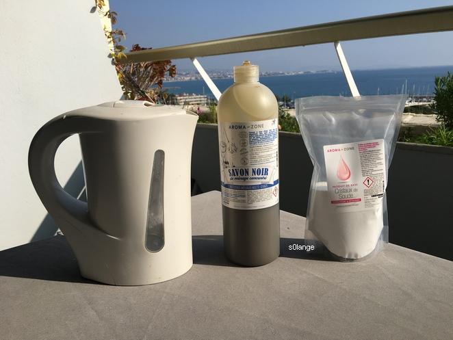 DIY Recette Lessive Liquide Savon Noir Ingrédients