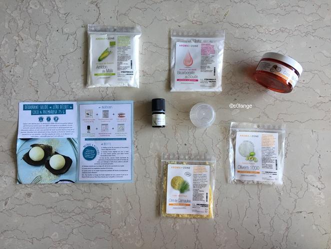 DIY Deodorant Solide Aroma-Zone Contenu