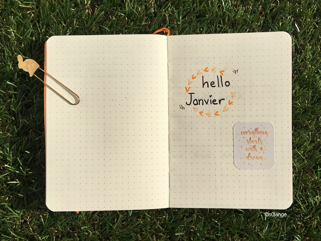 Bullet Journal Janvier 2020