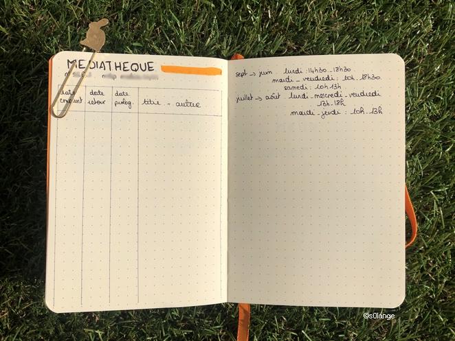 Bullet Journal 2020 Suivi Emprunts