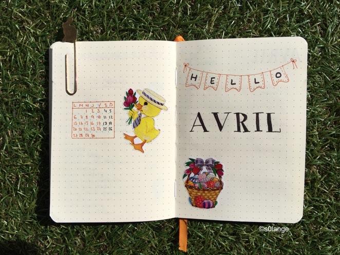 Bullet Journal Avril 2020