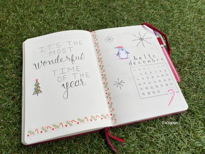 Bullet Journal Décembre 2020